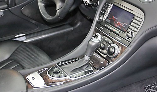 Mercedes SL R230 option 736 black ash trim picture