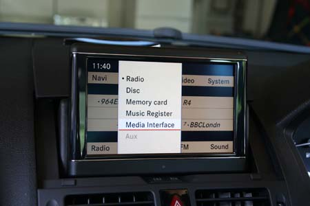 W204 Media Interface menu picture